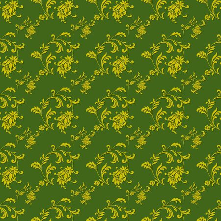 Seamless Green Floral Background Wallpaper photo