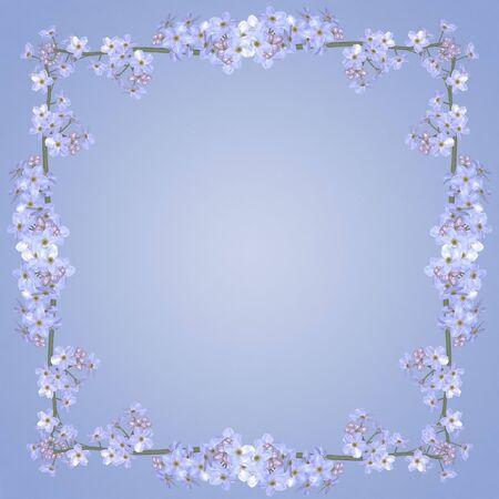 Floral Frame Gradient