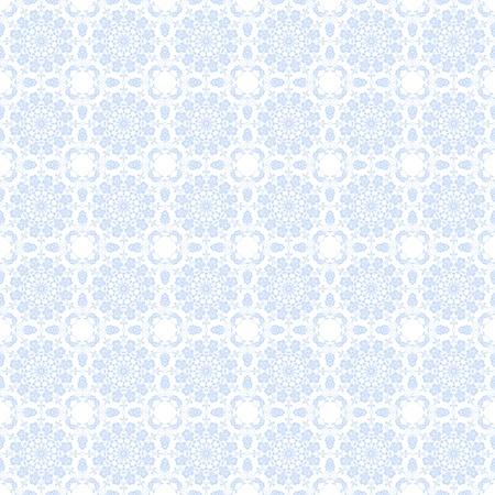 jaunty: Seamless Pale Blue Floral Kaleidoscope Background Wallpaper