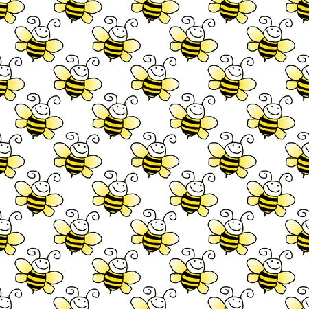 Seamless Bumblebee Background Wallpaper