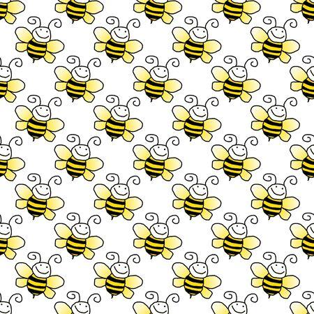 jaunty: Seamless Bumblebee Background Wallpaper