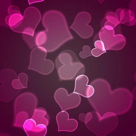 shiny hearts: Seamless Pink Bokeh Hearts Background Wallpaper