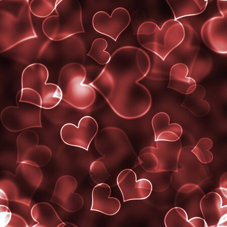 Red Bokeh Hearts Background Wallpaper
