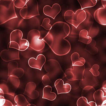 romantic: Red Bokeh Hearts Background Wallpaper