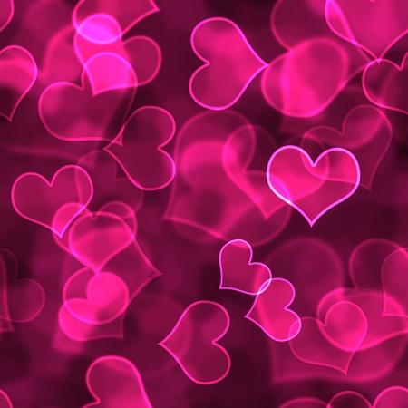 Hot Pink Heart Background Wallpaper 写真素材