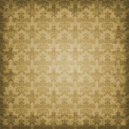 Shaded Sepia Brown Damask Background