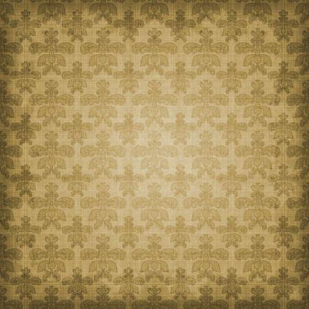 セピア色茶色ダマスク織網かけ