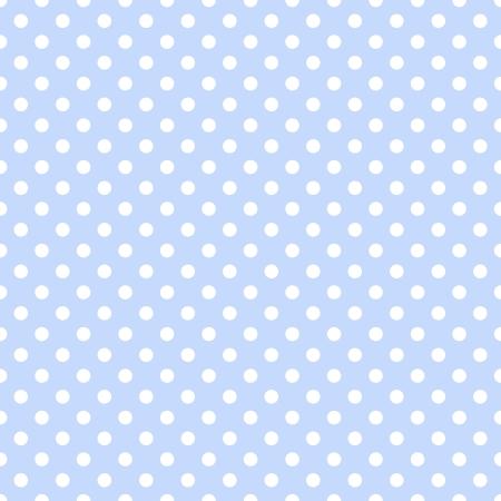 淡いブルーに白の水玉