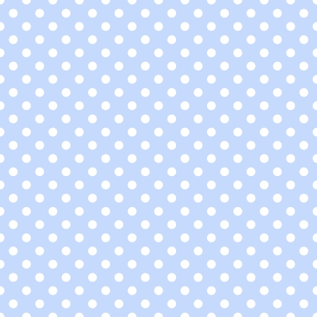 White Polka Dots on Pale Blue