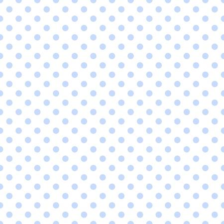 白の淡いブルーの水玉