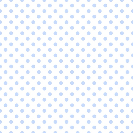 Pale Blue Polka Dots on White photo