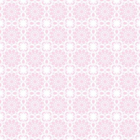 淡いピンクの万華鏡マンダラ 写真素材