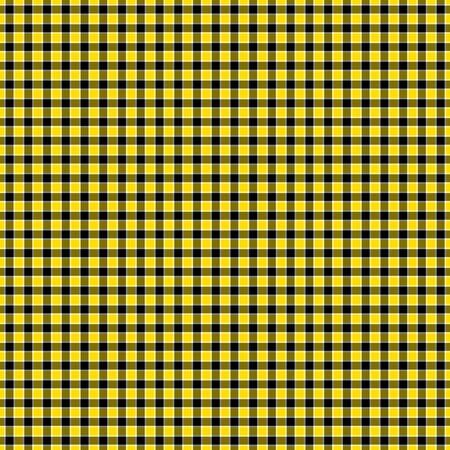 jaunty: Black, Yellow   White Checked Plaid