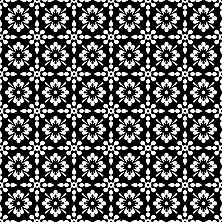 Seamless White   Black Floral photo