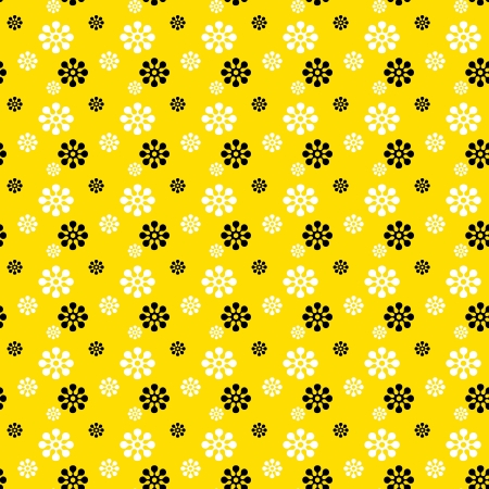 Seamless Bright Floral Background photo