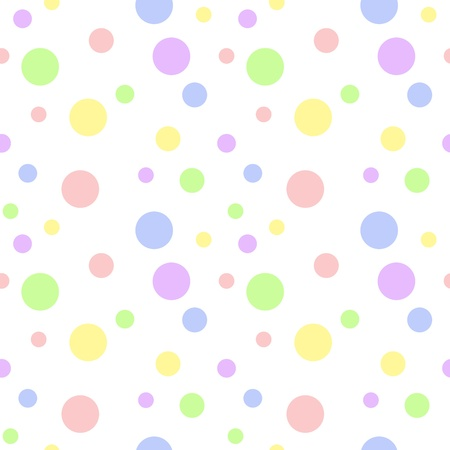 Seamless Pastel Multi Polka Dot photo
