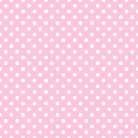 淡いピンク色に白の水玉