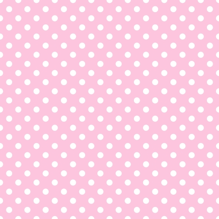 White Polka Dots on Pale Pink Stock Photo