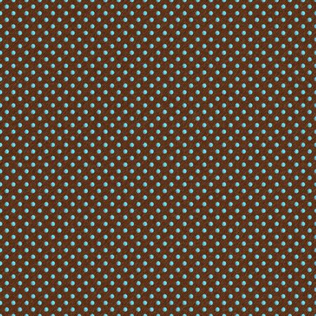 Seamless Aqua Dots on Brown