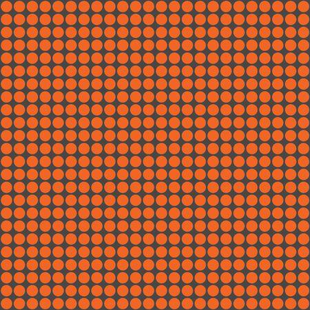 Orange & Dark Grey Circles Pattern Stock Photo