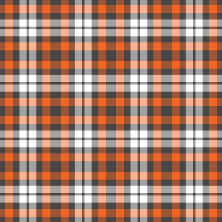 Orange, Grey, & White Plaid