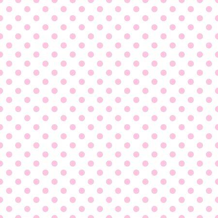 白地に淡いピンクの水玉 写真素材
