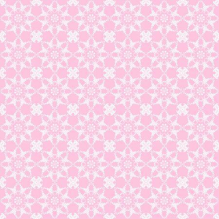 Baby Pink & White Kaleidoscope Stock Photo