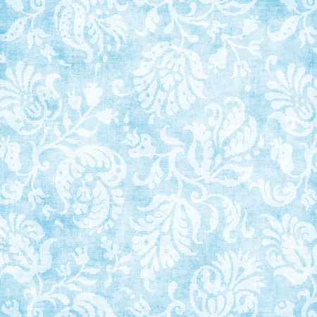 Vintage Pale Blue Floral Tapestry  Stock Photo - 15124022