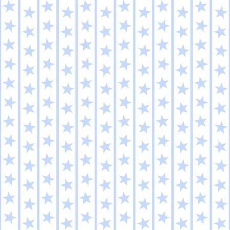 stripe: Pale Blue Stars & Stripes