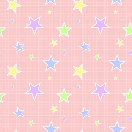 シームレスなパステル カラーの星のパターン