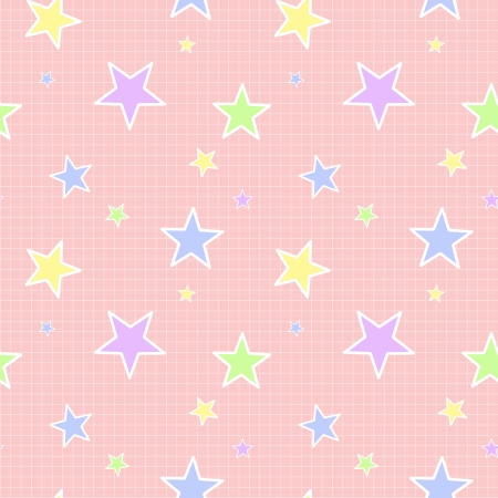 Seamless Pastel Star Pattern