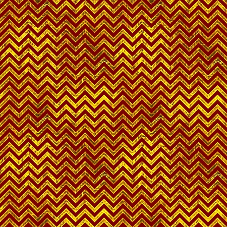Red & Gold Chevron Pattern