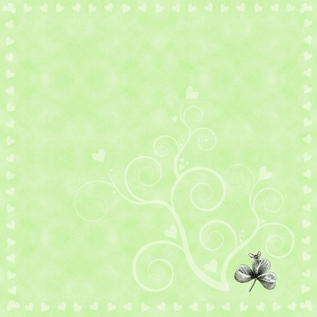 Whimsical Clover Frame Border Stock Photo - 15178599