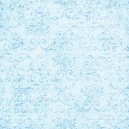 ヴィンテージ明るい青花のタペストリー