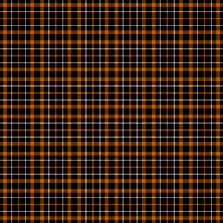 黒、オレンジ、& 白の格子縞