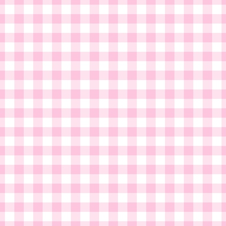 Seamless Light Pink Gingham Plaid Stock Photo
