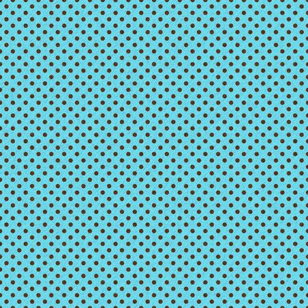 Brown Dots on Bright Turquoise photo