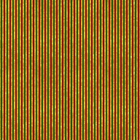 Red, Green & Gold Stripes