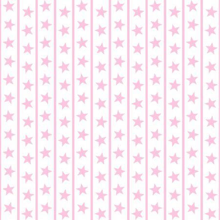 Pale Pink Stars   Stripes