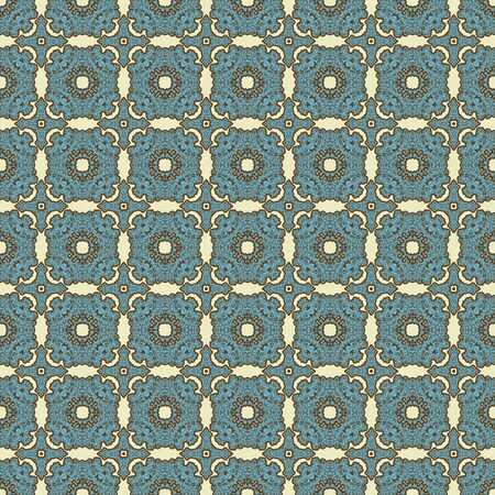 Blue   Brown Lacy Medallions Stock Photo