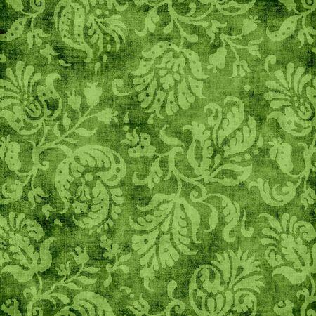 Vintage Green Floral Tapestry