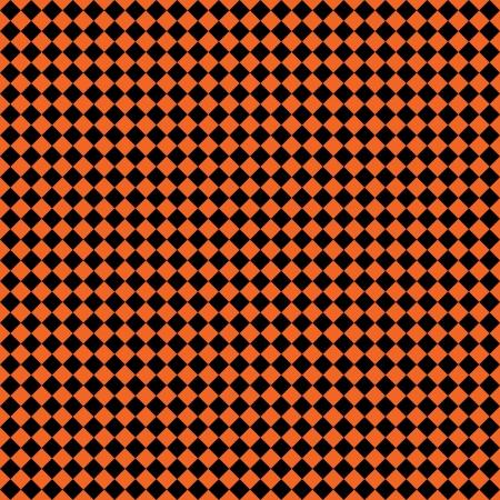 Seamless Orange & Black Checks