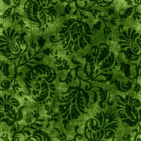 jacobean: Vintage Green Floral Tapestry
