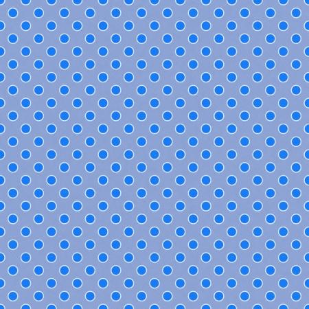 Seamless Blue & White Dots Stock Photo