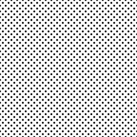Seamless Black & White Dots Stock Photo