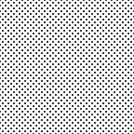 Seamless Black & White Dots Stock Photo