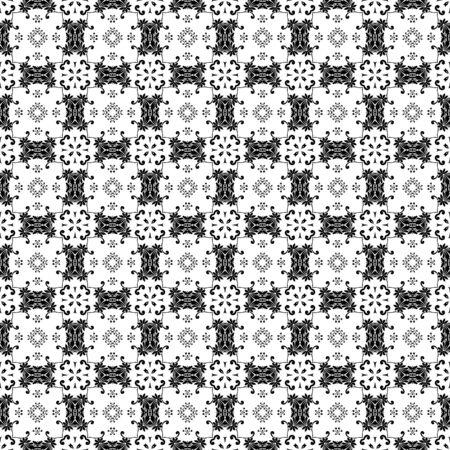 Black & White Ornate Background Stock Photo