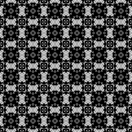 White & Black Ornate Background photo
