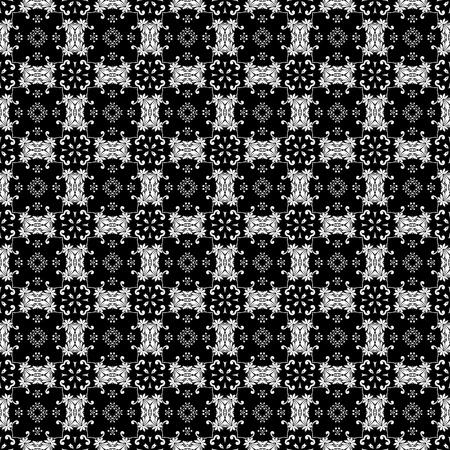 White & Black Ornate Background Banco de Imagens
