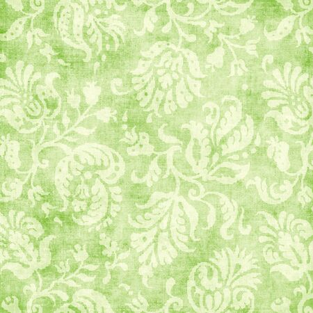 Vintage Light Green Floral Tapestry Stock Photo